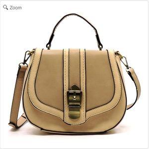 Handbags - NEW 2 Toned Saddle Satchel Crossbody Bag